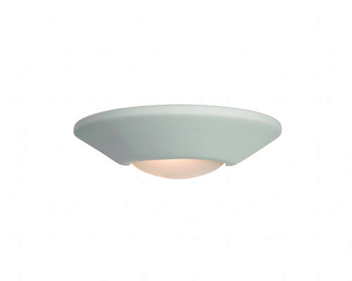 Firstlight C316UN Unglazed with Acid White Glass Ceramic Wall Light - 100w